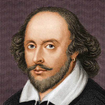 Will Shakespeare. Kind of like a groovy 6th form English teacher here, no?